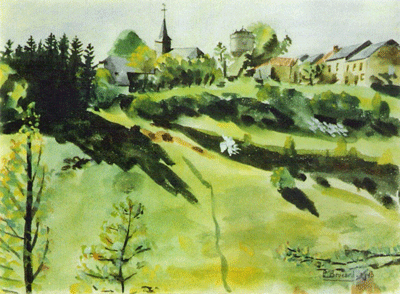 Aquarelle de P. Brocard