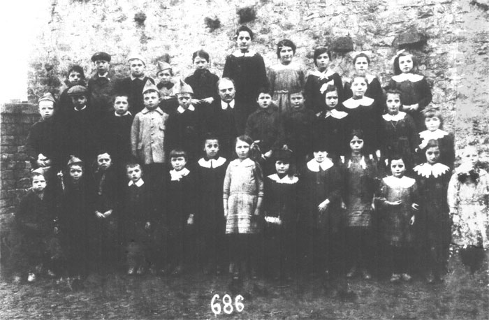 Photo école Williers 1921, institueur CHARLOT